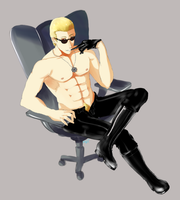 Wesker's f-ing chair by Blu3Hare