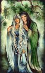 Elrond and Celebrian by ebe-kastein
