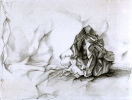 crumpled paper-drawing by Immortelle
