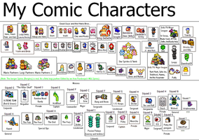 My Comic Characters by game-boy09
