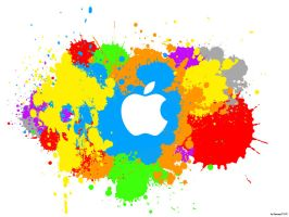 Apple Splash wallpaper by Sponge1310