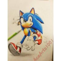 Sonic colors pose drawing by AceArtz1001