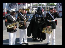 Vader and the Marine band by Darkside0326