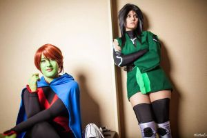 Miss Martian and Cheshire from YJI by St3phBot