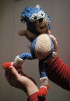 Home made sonic plushie by AliceSacco