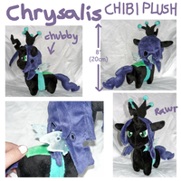 MLP Chrysalis chibi plush by SilkenCat