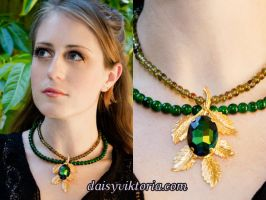 Enchanted Leaf Necklace by DaisyViktoria