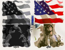 American Spirt and Mentos by Paperdoll-Products