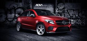Mercedes GLE 450 AMG Coupe on ADV1 wheels by Splicer436