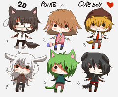 20 points- Chibi cute boys -CLOSED- by Ayuki-Shura-Nyan