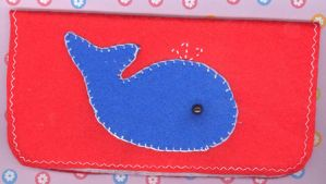 Wittle Whale Checkbook Cover by RyuuseiHime