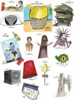 drawing per episode-Doctor Who Season 5 by hatoola13