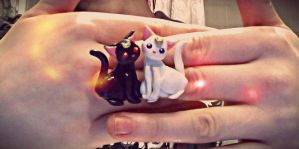 Sailor moon cats earring commission by mayumi-loves-sora