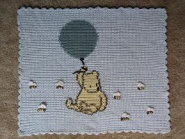 Crochet Pooh Bear Blanket by irisheyes-923