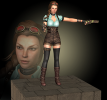 LaraSteampunk, wip 1 by tombraider4ever