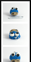 Cookie Monster Charm! by Llama-Lloon
