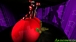 [SFM FNaF Fetish Request] Mignon Butt Crush by Awesomenope
