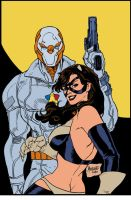 SS and Phantomcat flat colored by gammaknight