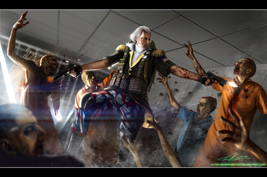 George Washington ZombieHunter by SharpWriter