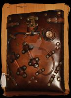 IPAD leather case steampunk by Lagueuse