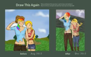 Before/After AppleDash by rainbowPudding18