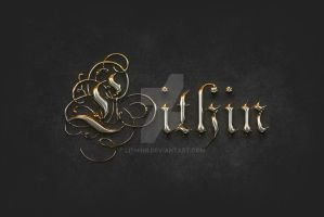 Gold chromed text effect by lithinb