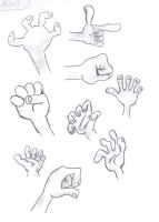 study cartoon hands by letiza