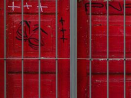 Looked door grafitti by AMITSHITA