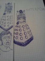 Doctor Who drawings by Heatherannpt