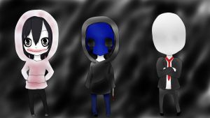 Creepypasta Gang :D by ICryMyBloodyTears