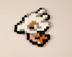Cubone Hamabeads by Turtle-Duck