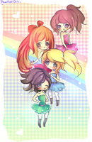 Powerpuff Girls by mochatchi
