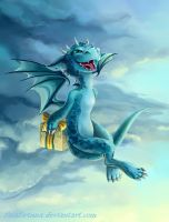 blue dragon by FataFortuna
