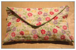 Quilted envelope by restlesswillow