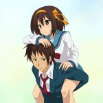 Haruhi on Kyon by mountain-pukuichi