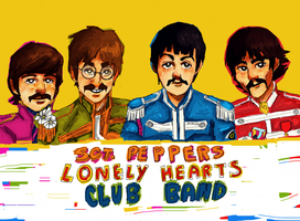sgt peppers lonely hearts club band by beagleamarelo