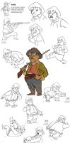 Old Cowboy Model Sheet by bmaras