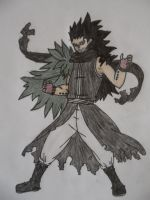 Gajeel Redfox - colored by FairyVampire