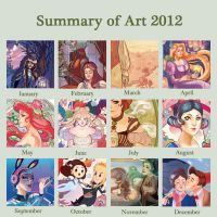 ART SUMMARY OF 2012 by audreymolinatti