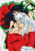 inuyasha and kagome by saezuruko