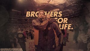 Pau And Kobe Brothers for Life Wallpaper by assasinsilent