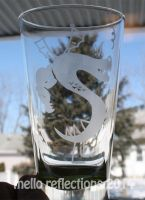 Trogdor Etched Glass by MelloReflections