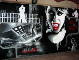 Sin city comic mural by mechanism0022