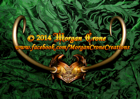 Lady Loki Style Gold Horned Filigree Diadem by MorganCrone