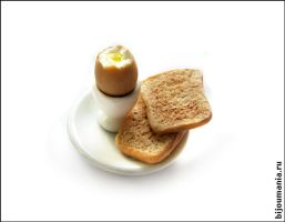 Boiled eggs and toast by allim-lip