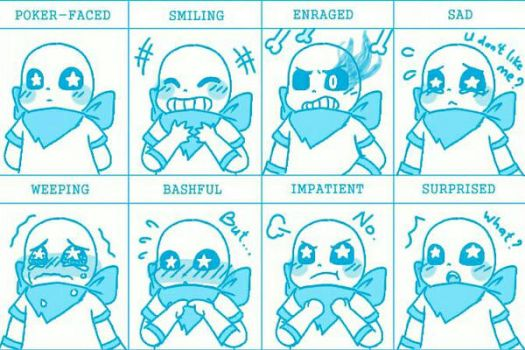 UnderSwap Sans Emotions  by Annyuei