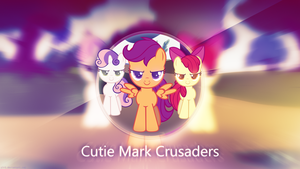 Cutie Mark Crusaders Glossy - 4k Wallpaper by P3r0