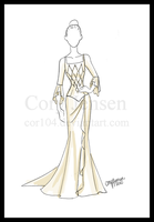 Wedding Dress Design by Cor104