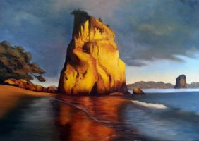 Cathedral Cove by N00dleIncident