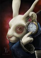 White rabbit by LuzTapia